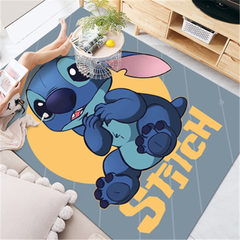 Product 80x160cm Disney Stitch Baby Playmat Thick Carpet Living Room Area Carpet Bedroom Bedside Rug Crawling Mat Home Decoration
