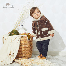 Hooded Coat Outerwear Pockets Toddler Infant Baby-Boys Dave Bella Winter Children Fashion