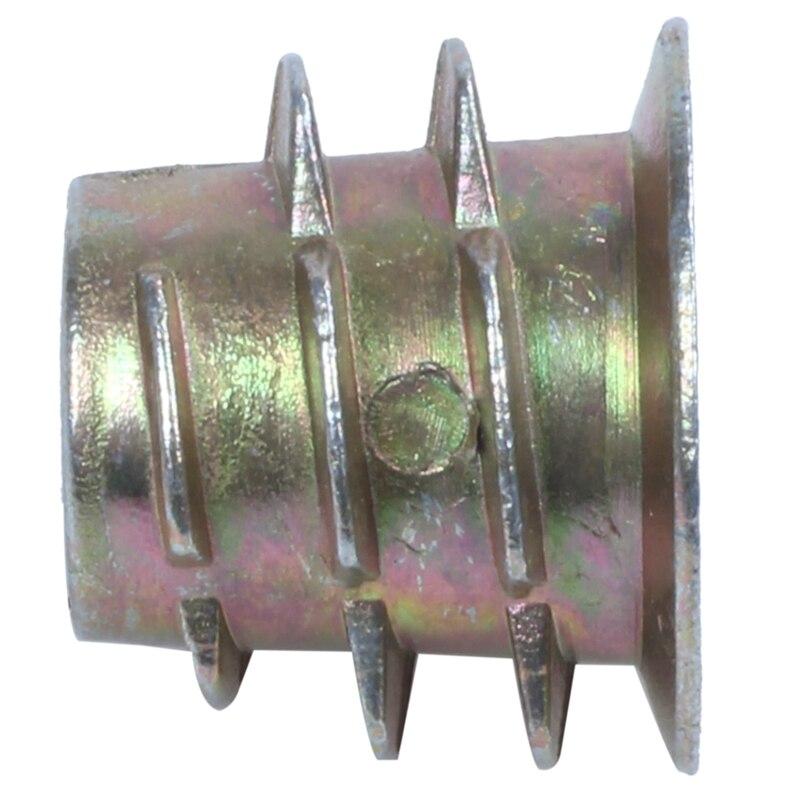 30 Pcs M6x10mm Hex Socket Screw in Thread Insert Nut for Wood C6I6