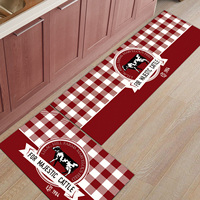 The Cow Plaid 2 Piece Mat For Kitchen Bathroom Accessories Set Dirt Debris Mud Trapper Boot Shoes Scraper Area Runners Accent