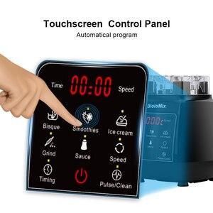 Image 4 - デジタル3HP bpa送料2L自動タッチパッドプロフェッショナルブレンダーミキサージューサー高パワー食品プロセッサ氷スムージーフルーツ
