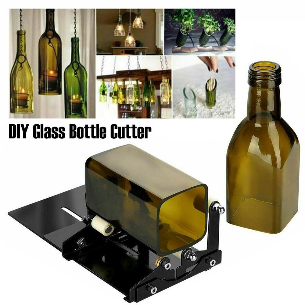 Инструмент для резки стеклянных бутылок, профессиональные режущие бутылки из нержавеющей стали, регулируемые DIY режущие инструменты, машина для винных пивных бутылок Аппараты для высечки фигур      АлиЭкспресс