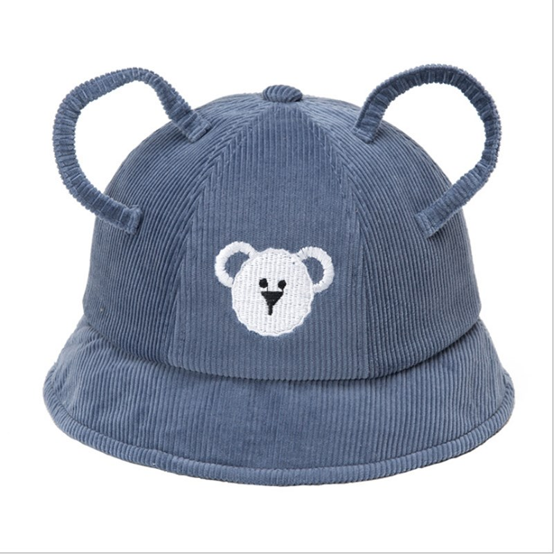 Cute Baby Boy Girl Autumn Winter Home Outdoor Hat Lovely Bear Hollow Ear Kid Unisex Hat Cotton Soft Warm Breathable Baby Hat in Hats Caps from Mother Kids