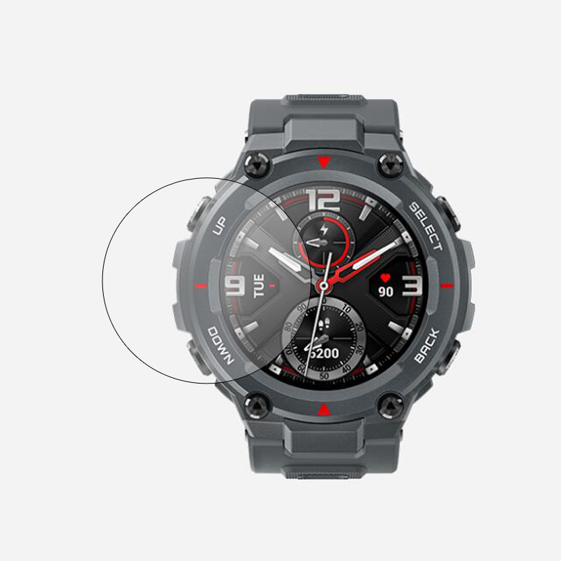 Tempered Glass Protective <font><b>Film</b></font> For Xiaomi Smartwatch Huami <font><b>Amazfit</b></font> T-Rex T rex Smart Watch Screen Protector Cover Protection image