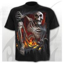 Camiseta con estampado 3D de esqueleto para hombre y mujer... ropa de estilo Punk de Calavera... gótica... talla XXS-6XL 2020