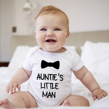 Jumpsuit Toddler Romper Outfit Clothing Short-Sleeve Auntie's Funny-Print Newborn-Baby