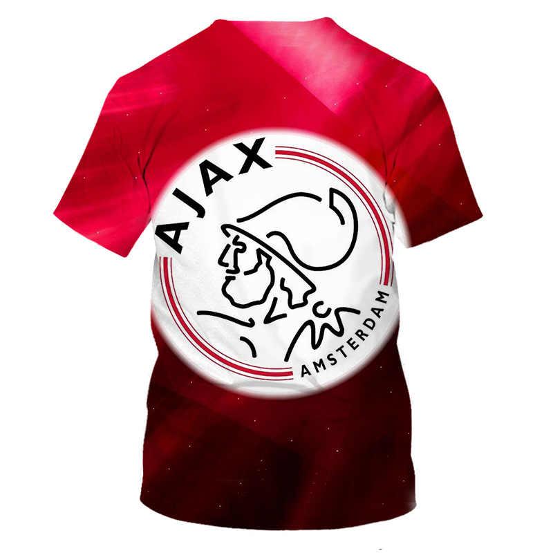 Mode Fußball team AJAX T-shirt Männer Football Stars Cristiano ronaldo 3D Druck Casual T shirt 2019 Weihnachten Cosplay T-shirts