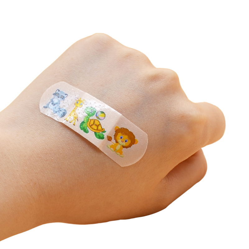 Unique 100PCs Waterproof Breathable Cute Cartoon Band Aid Hemostasis Adhesive Bandages First Aid Emergency Kit For Kids Children