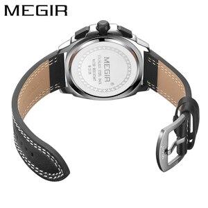 Image 2 - MEGIR 2020 New Relogio Masculino Watches Men Fashion Leather Band Sport Watch Quartz Business Wristwatch Reloj Hombre