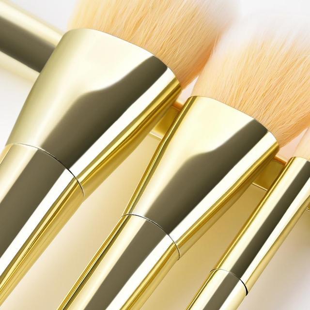 7/12pc Rose Gold Makeup Brushes Set tool for Eyeshadow Eyebrow Fundation Powder Concealer Blush Long handle Makeup maquiagem 5