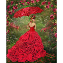 RUOPOTY 60x75cm Painting By Numbers Kits For Adults HandPainted Women Figure Picture Modern Wall Art Canvas Painting Diy Gift