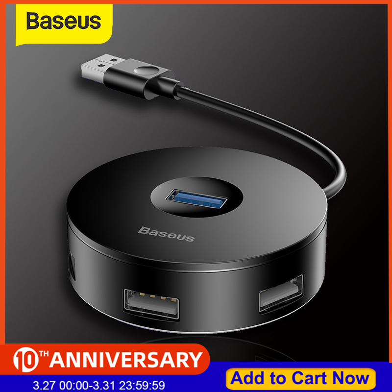 Baseus USB 3.0 4-Port USB Hub 5Gbps Adapter USB Type C HUB Computer PC For Macbook Type C USB 3.0 HUB For Huawei