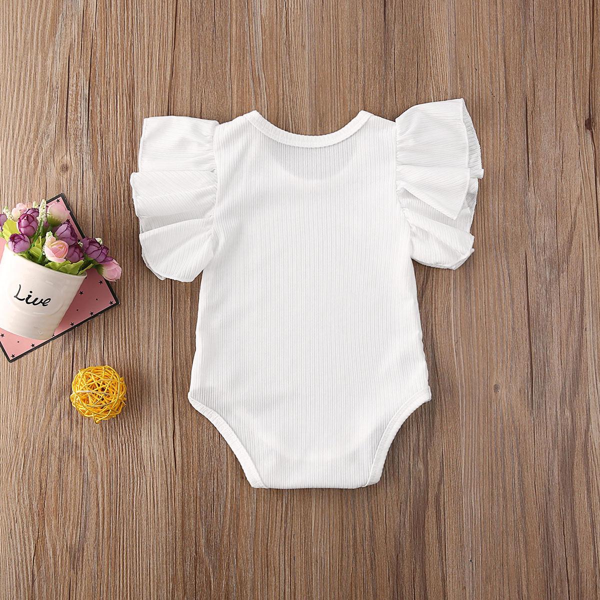 Боди для новорожденных, комплект для малышей, комплект одежды для маленьких девочек хлопковый боди с короткими рукавами, костюм, Комплект детской одежды девочек пляжный костюм детский комплект одежды 3