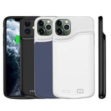 5000mAh Slim líquido silicona a prueba de golpes cargador de batería casos para iPhone 11 Pro Max PowerBank caso de la cubierta del cargador externo Fundas