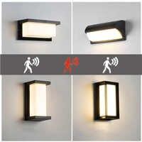 LED illuminazione della parete esterna impermeabile portico lampade Radar Sensore di Movimento Cortile Con Giardino lampade da parete AC85--265V