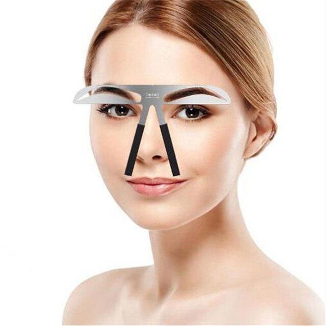 Eyebrow Shaper Makeup Aid Balance Stencil Measure Makeup Tattoo Ruler Template Hot New Make Up New Thrush Tools Convenience 1