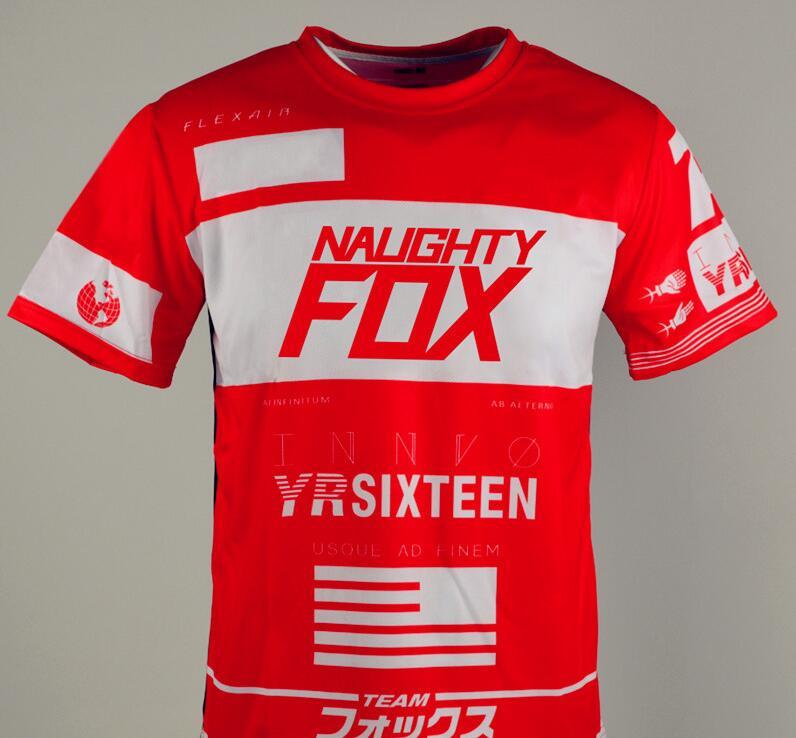 Mens FOX Cycling Jersey Mountain Bike Top MTB Racing Motocross Short Sleeve-Tops