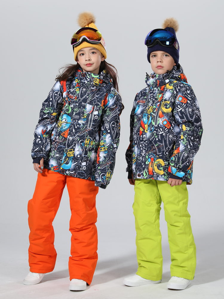 2019 Ski Suit Kids Thicken Winter Suit Children Snowboard Suit Children Ski Suit For Girls Ski Jacket Snowboard Snow Suit Warm