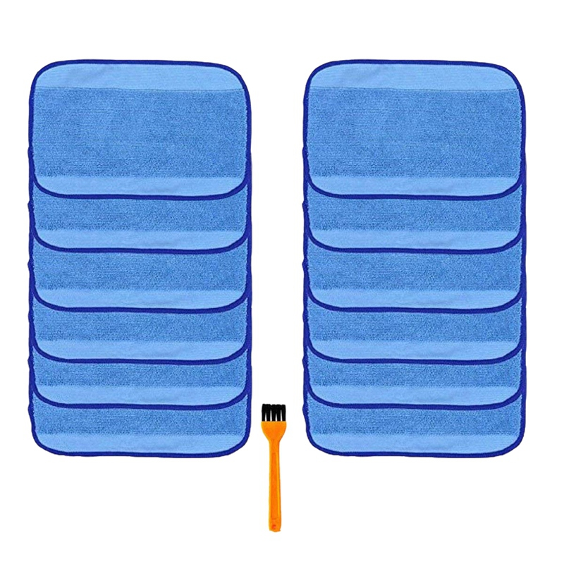 12Pcs Microfiber Wet Mopping Cleaning Pad Cloth for Irobot Braava 380 380T 321 320 Mint 5200C 5200 4200 4205 and a Free Cleaning|Mops| |  - title=