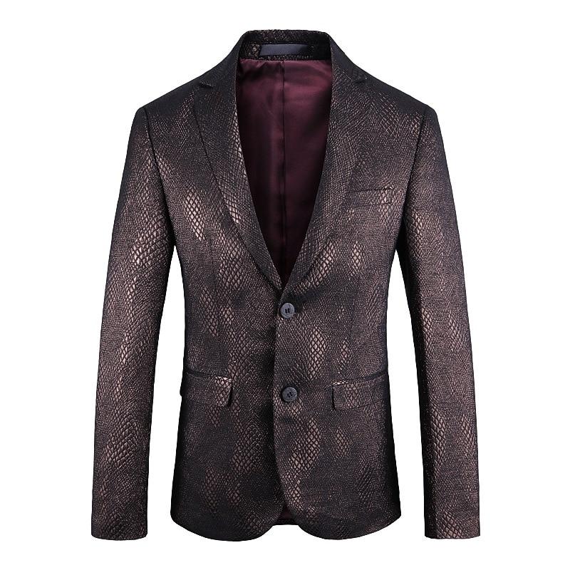 2019 New Men's Fashion Boutique Blazer Coat Autumn Winter Suit Jackets for Men Costume Business Formal Party Blazer
