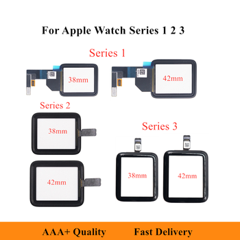 38mm 42mm Tested Touch Screen Digitizer Glass For Apple Watch Series 1 2 3 LCD Front Sensor Replacement for iwatch 1 2 3 Glass image