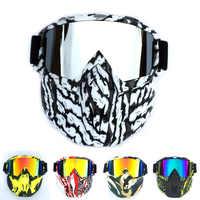 Hombres y mujeres en esquí, Snowboard gafas de motonieve máscara nieve esquí de invierno anti-UV impermeable Motocross gafas de sol Q