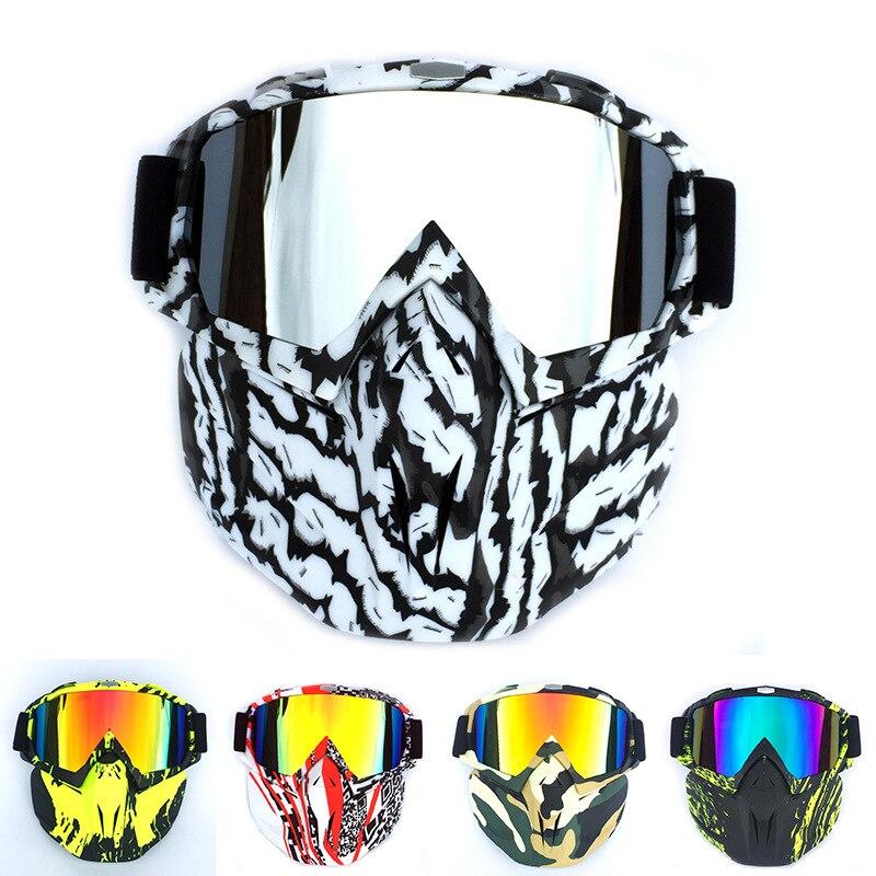 Men Women Riding Ski Snowboard Snowmobile Eyewear Mask Snow Winter Skiing Anti-UV Waterproof Glasses Motocross Sunglasses Q