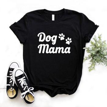 Dog Mama paw Print Women Tshirts Cotton Casual Funny t Shirt For Lady Yong Girl Top Tee Hipster 6 Color NA-911