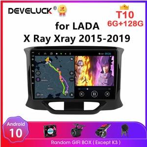 Image 1 - Android 10 2 Din Car Radio for LADA X Ray Xray 2015 2016 2019 Multimedia Video Player 4G WiFi Navigation GPS autoradio Head Unit