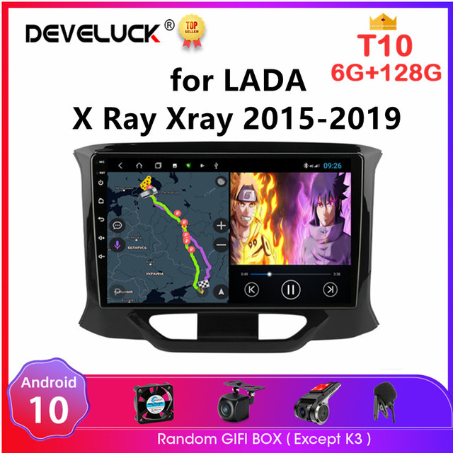 Android 10 2 Din Car Radio for LADA X Ray Xray 2015 2016 2019 Multimedia Video Player 4G WiFi Navigation GPS autoradio Head Unit