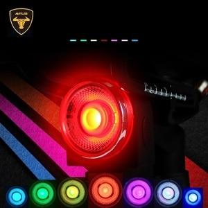 Image 4 - Антивор для дорожного велосипеда ANTUSI, автоматический тормозной сигнал, задний фонарь, дистанционное управление, беспроводной звонок для горного велосипеда