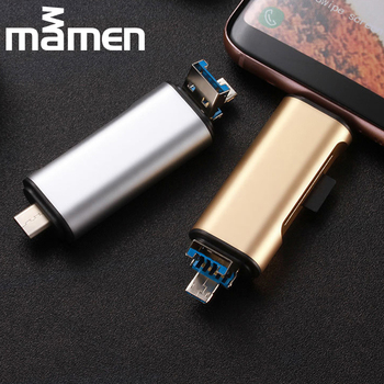 3-in-1 Multifunctional USB/Type-C/Android Card Reader MicroSD/SD/TF Card Reader For Phone Computer Tablet Laptop Accessories