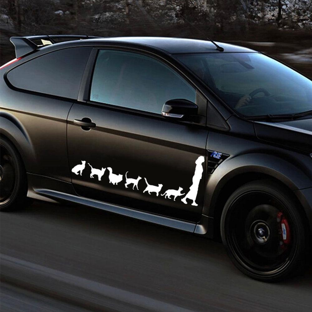 Funny car stickers Cat Lady Decor Car Auto Truck Window Decals Self-Adhesive Vehicle Sticker adesivo carro acessorios para carro