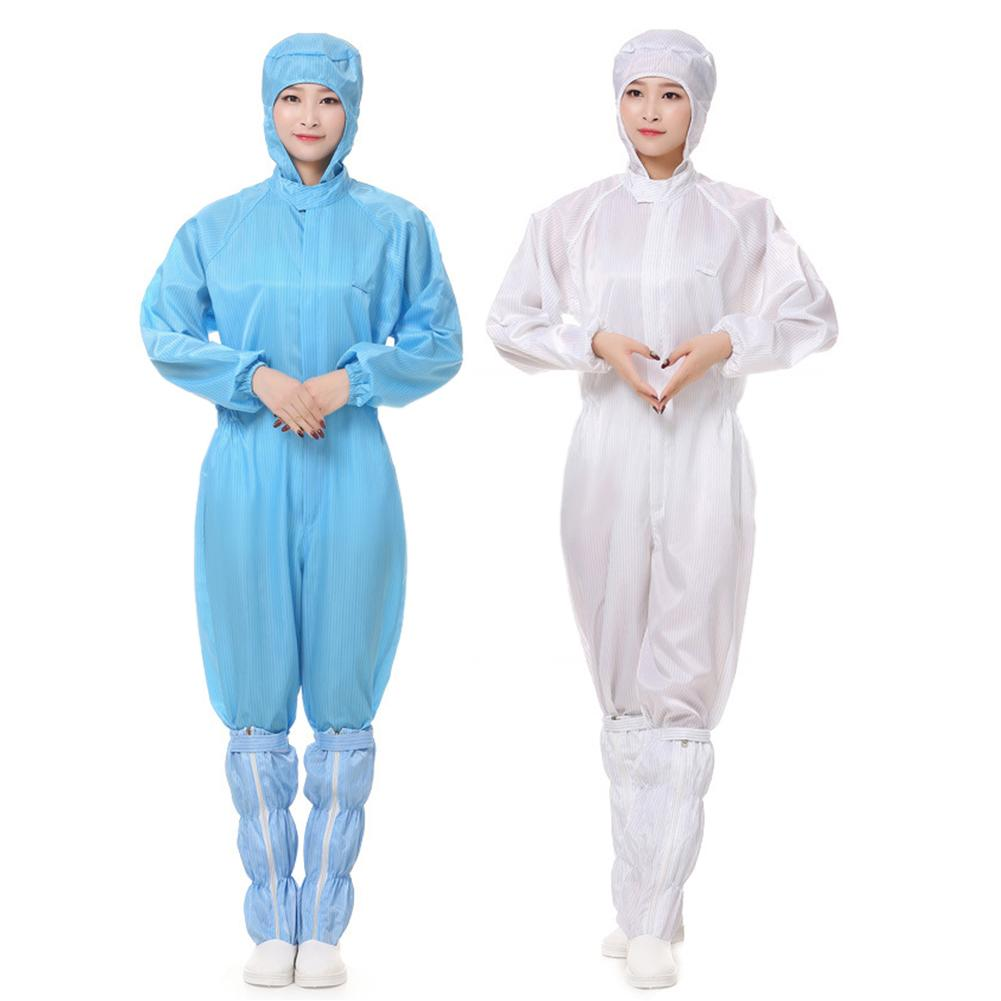 Hooded Coverall Anti-static Dustproof Work Suit Chemical Protective Clothing Isolation Safety Clothes Oil-Resistant Workwear New