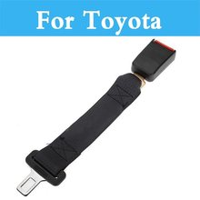 Black Car Seat Belt Seatbelt Extender Extension Safety For Toyota Yaris Highlander Verossa Vios Will Vitz Cypha Windom