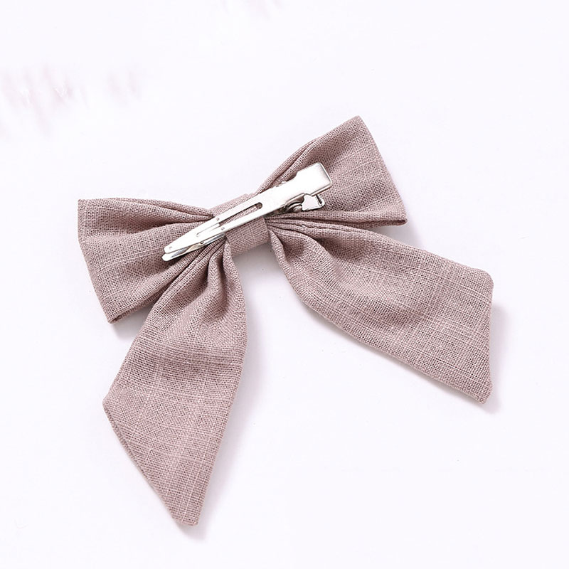 1PC Cotton Linen Solid Color Long Tail Bow Hair Clips Barrettes Hairpins Grips Girls Women Cute Sweet Hair Accessories Headwear