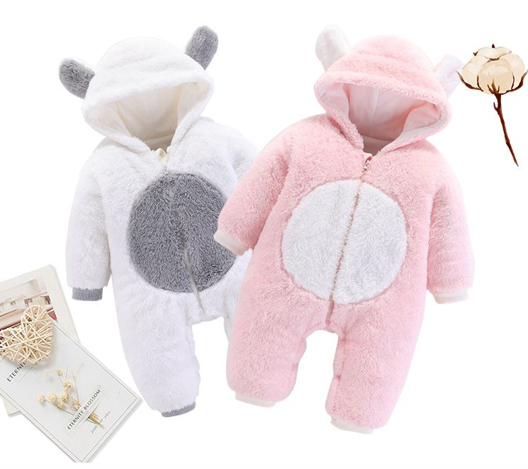 Overalls Jumpsuit Newborn-Baby Baby-Girl Rompers Hooded Babies Winter Kids Bear for CALOFE