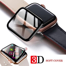 Apple Horloge Volledige Cover 3Dtempered Glas Voor IWatch5 Band Cover Serie 5 4 3 2 1 Glas Screen Protector iwatch 38 42Mm 40Mm 44Mm(China)