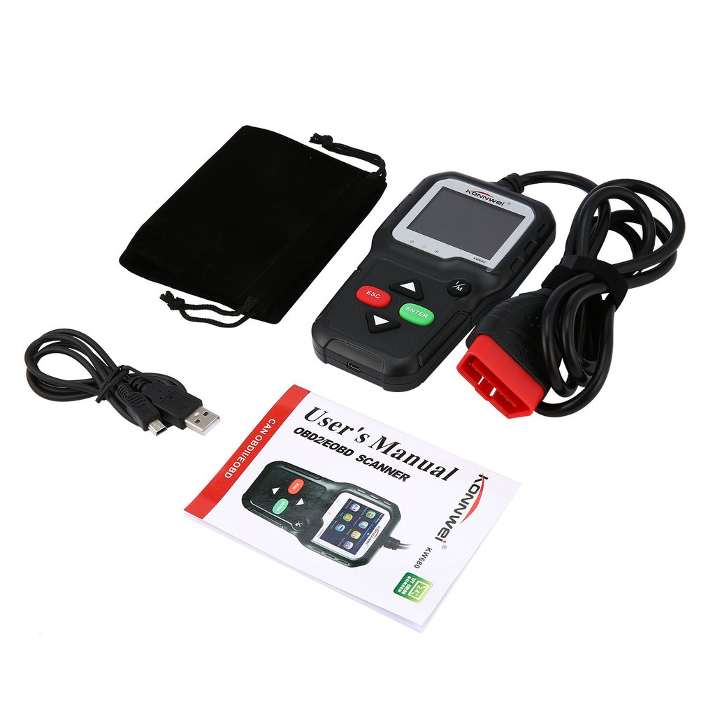 KW680 Universal OBD2 Automotive Scanner Diagnostic Car Scan Tool OBDII Auto Check