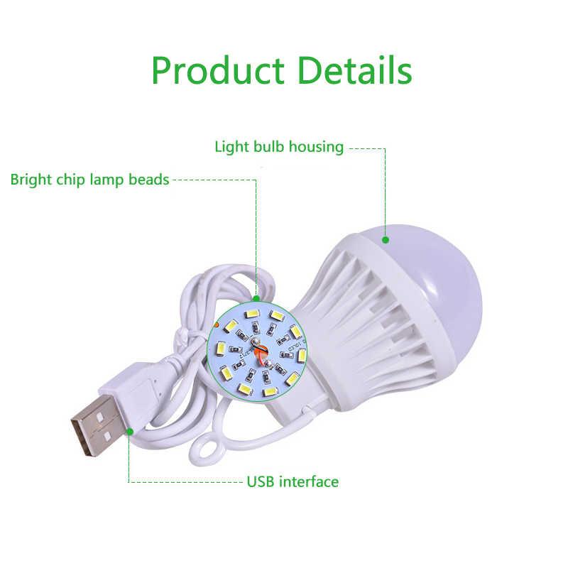Usb portátil led lâmpada de poupança de energia bulbo led bola bulbos para notebook ao ar livre usb energia móvel lâmpadas de emergência lâmpada de leitura