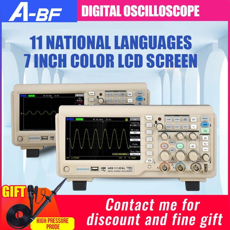 A-BF osciloscópio digital portátil de dois canais 200 m 1g amostragem 7 Polegada tela colorida grandes empresas centrais