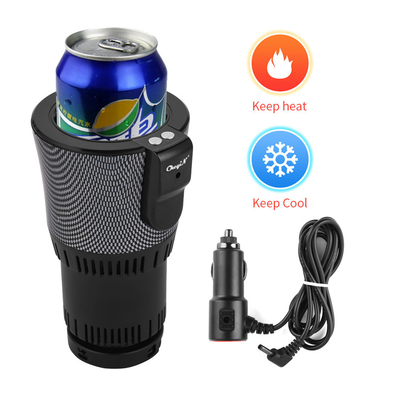 2-in-1 Car Cup Warmer Cooler Auto 12V Smart Car Office Cup Mug Holder Cup Drink Holder Water Heater Cooling Beverage Drinks Cans