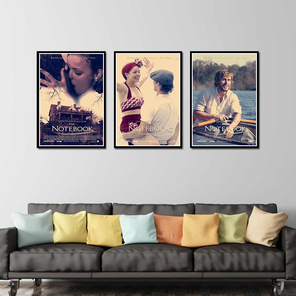 The Notebook Poster Decorative DIY Wall Canvas Sticker Home Bar Art Posters Decor
