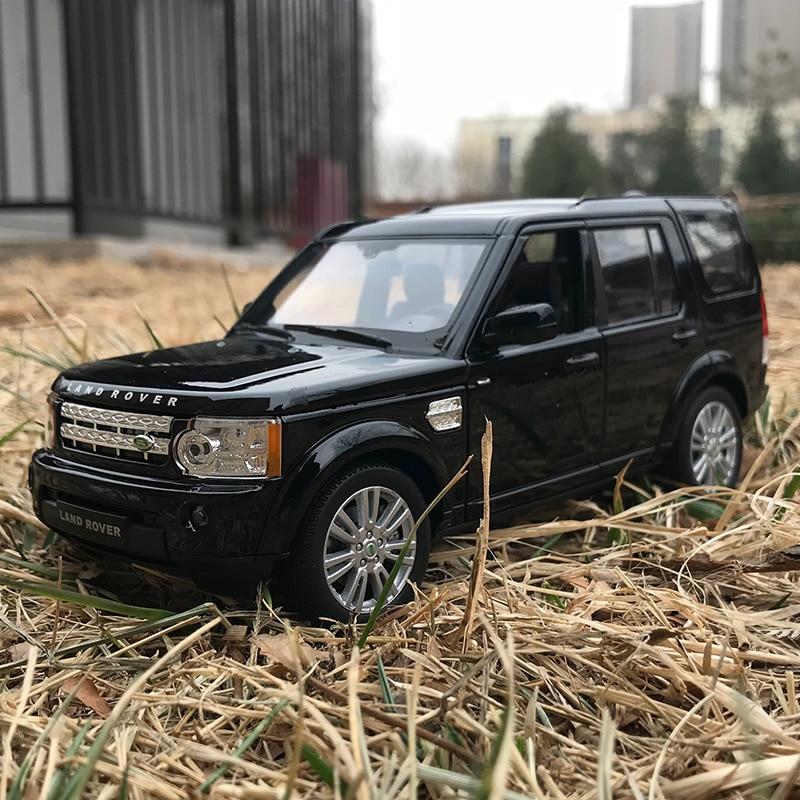 Welly 124 land rover discovery 4 liga modelo de carro diecastas & veículos de brinquedo coletar presentes não-tipo de controle remoto brinquedo de transporte