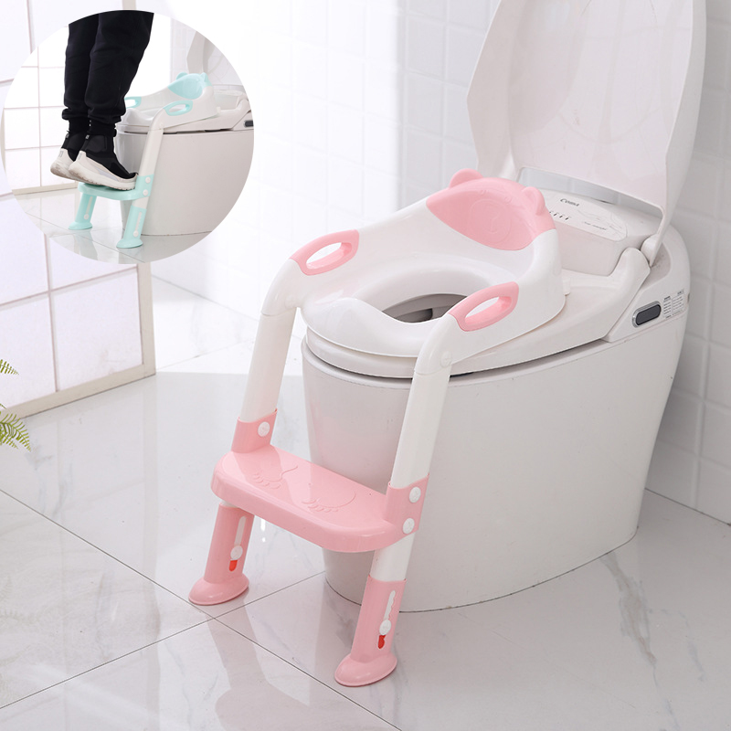 Folding Baby Potty Kids Portable Toilet With Adjustable Ladder Portable Urinal Infant Potty Training Seat Urinal For Children