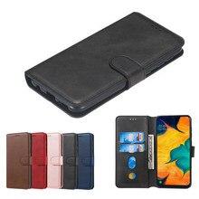 Pokrywy skrzynka dla Samsung Galaxy A20 E S przypadku luksusowe magnetyczne odwróć portfel Retro zwykły skórzany telefon torba dla Samsung A20E A20S Coque