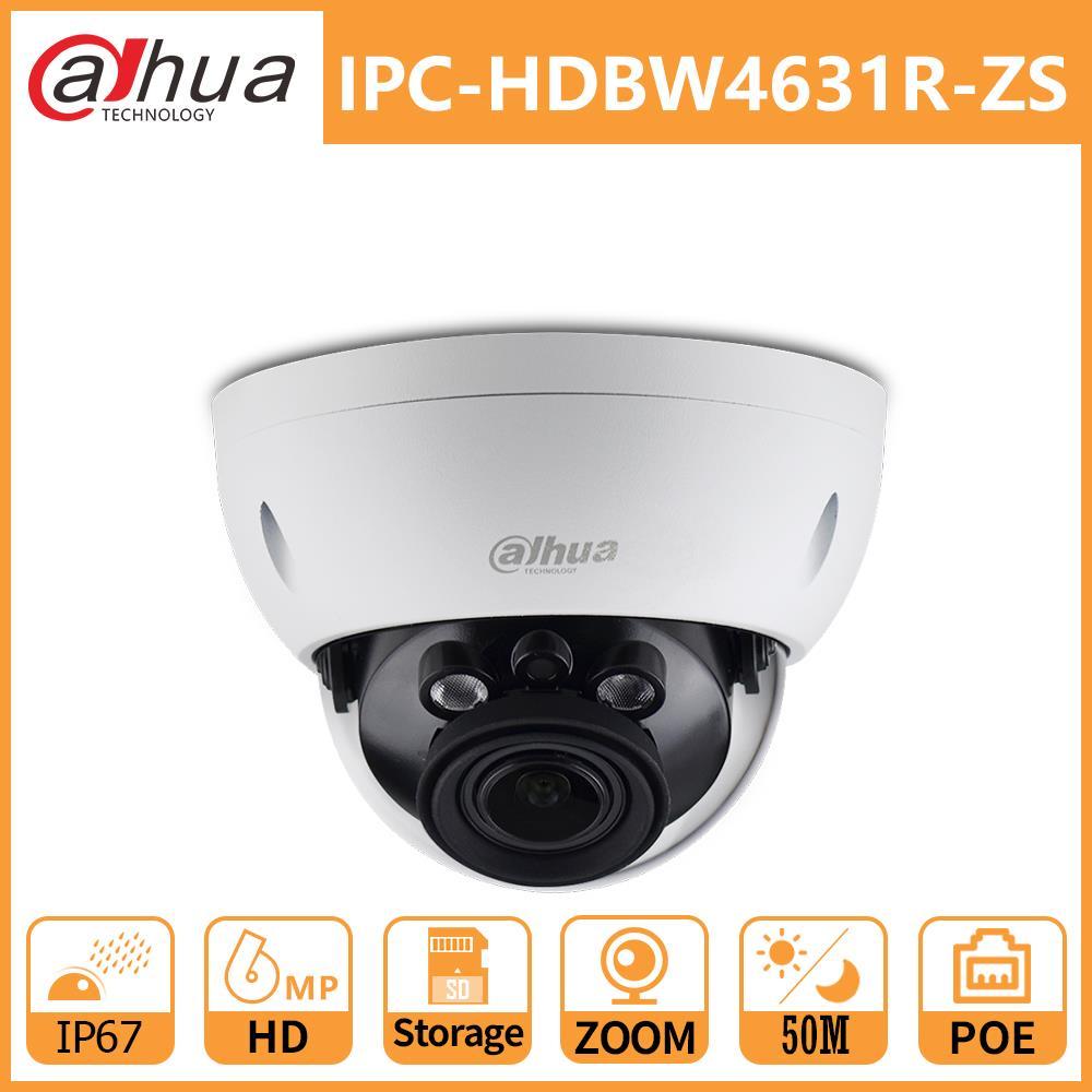 Dahua DH IPC-HDBW4631R-ZS 6MP CCTV Camera 2.7mm~13.5mm lens H.265 IR50m with sd Card slot POE IP Dome camera Smart Detection