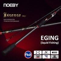 Noeby Spinning Angelrute 2,59 m 2,75 m ML Power 5-28g Licht Carbon Fuji Titan Sic Ringe stange für Eging Tintenfisch Angelrute