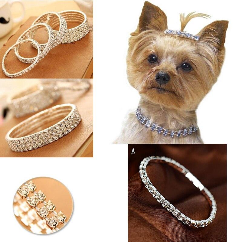 Милый мини ошейник Стразы чокер ошейник для кошки собаки красивое ожерелье для чихуахуа с кристаллами для питомца ювелирные изделия