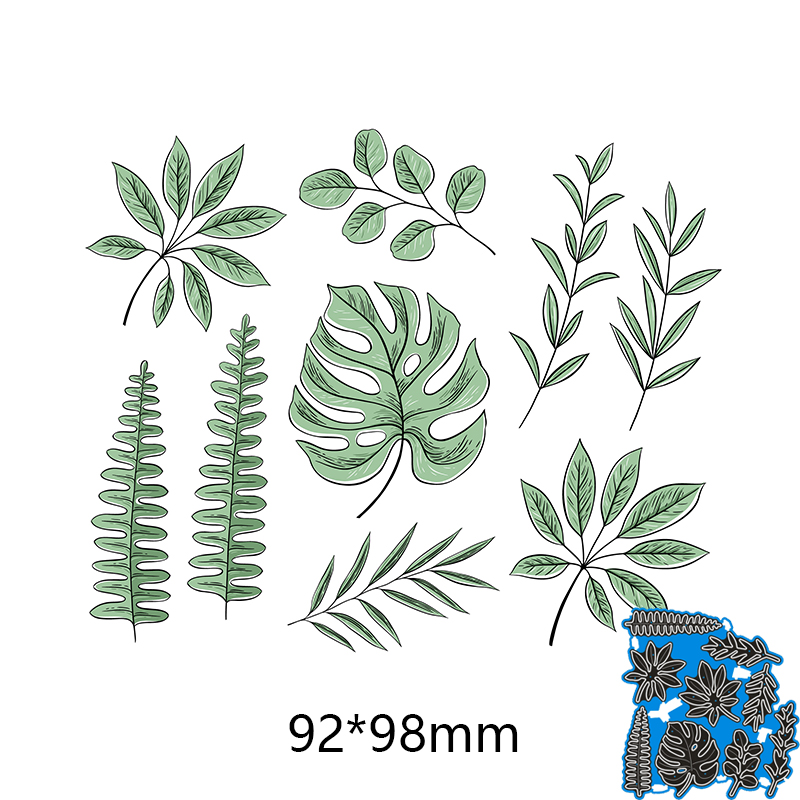 92*98mm Mosaic Branch Set New Metal Cutting Dies Stencils For DIY Scrapbooking Paper Cards Craft Making Craft Decoration